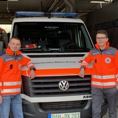 Foto: Der Katastrophenschutzbeauftragte Dennis Behrendt (rechts) mit seinem Stellvertreter Christian Liebl