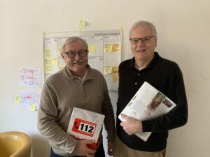 Foto: Hans Ramsteiner (links) und Wolfgang Gartenlöhner (rechts) betreuen die Kulturloge Dachau.
