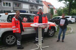 Foto (von li): Rebecca Dorsan, Thomas Bauer und neues HvO-Mitglied Marina Bader.