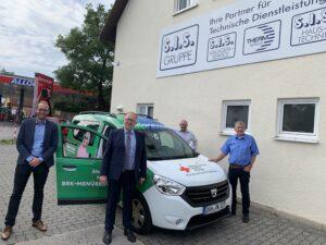 Foto (von li nach re): Nicolá Schuster, Markus Tomasek, Anton Egger und Wolfgang Grunert (im blauen Hemd).