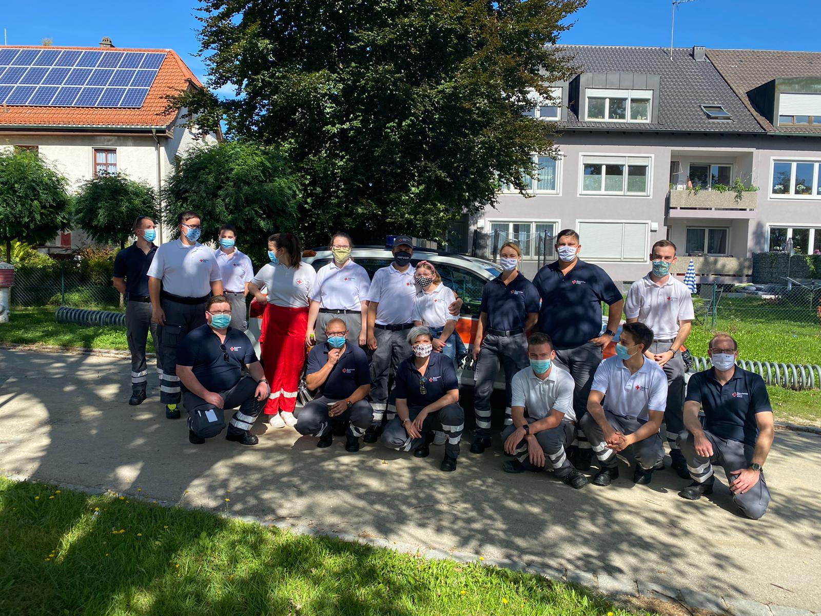 Foto: Das BRK-Team bei der Blutspende in Petershausen