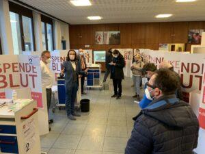 Öffentliche Vorstellung des Impfzentrums am Rotkreuzplatz in Dachau