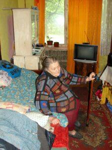 Krankenschwester Tamaras 85-jährige Patientin