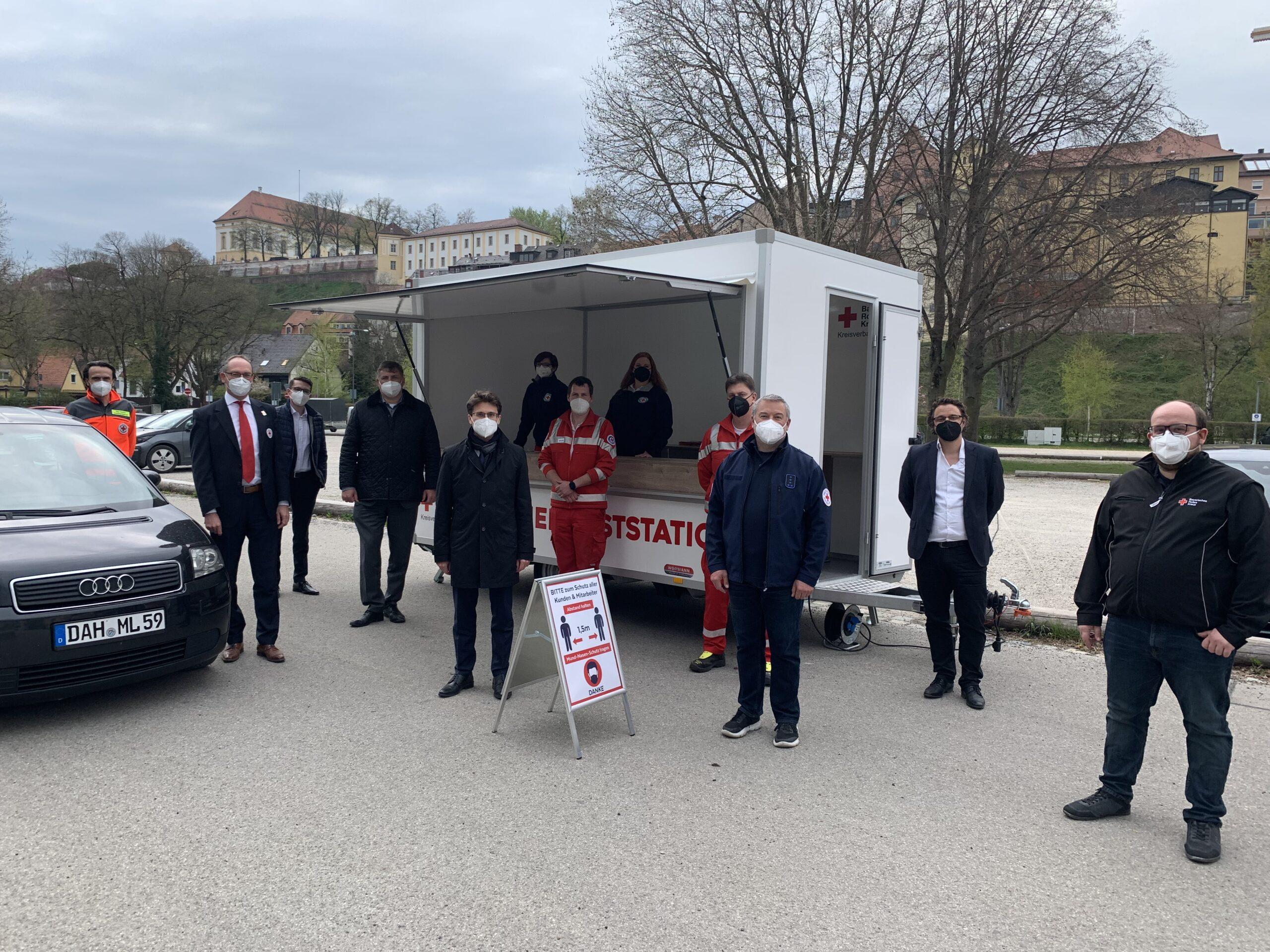 Die Drive-In-Teststation auf der Ludwig-Thoma-Wiese